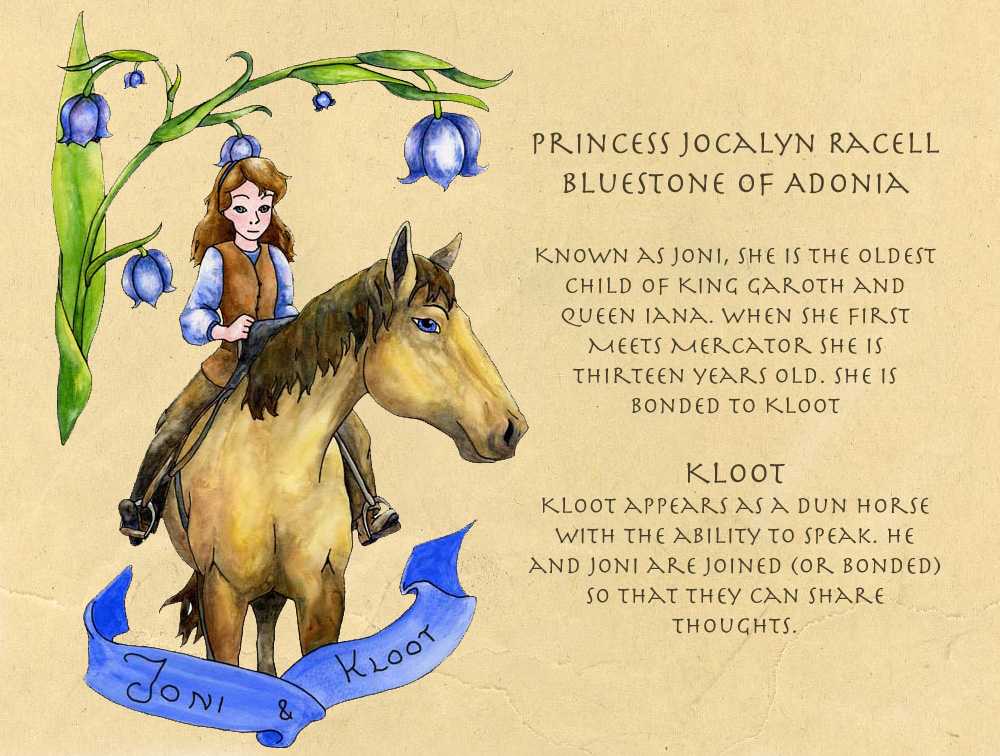 Joni and Kloot. Joni is a princess Kloot is a horse.